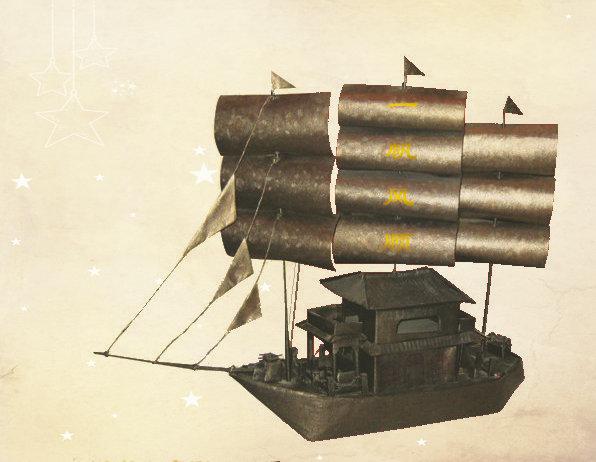 一帆风顺|天祥作品|我的中国梦,张英祥折纸,艺术作品